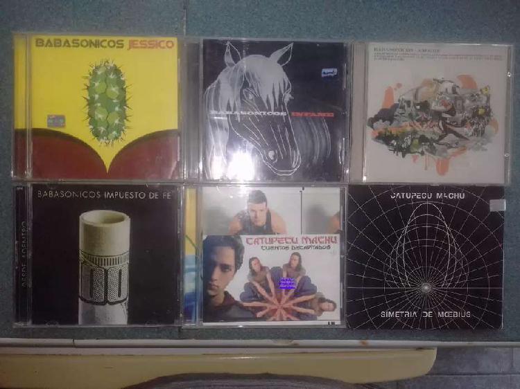 Lote de cds babasonicos y catupecu machu originales