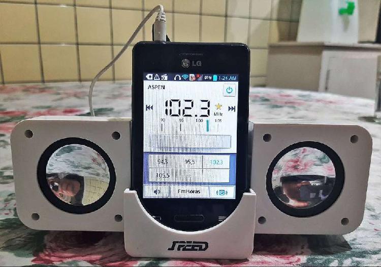 Mini parlantes portátiles speed a pilas con cargador