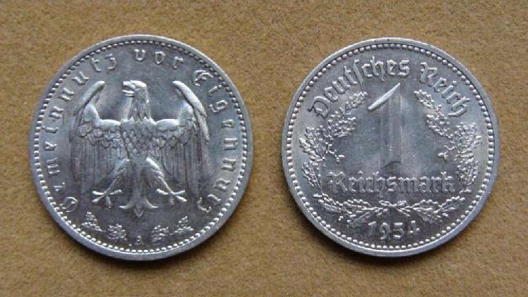 Moneda de 1 reichsmark alemania 1934