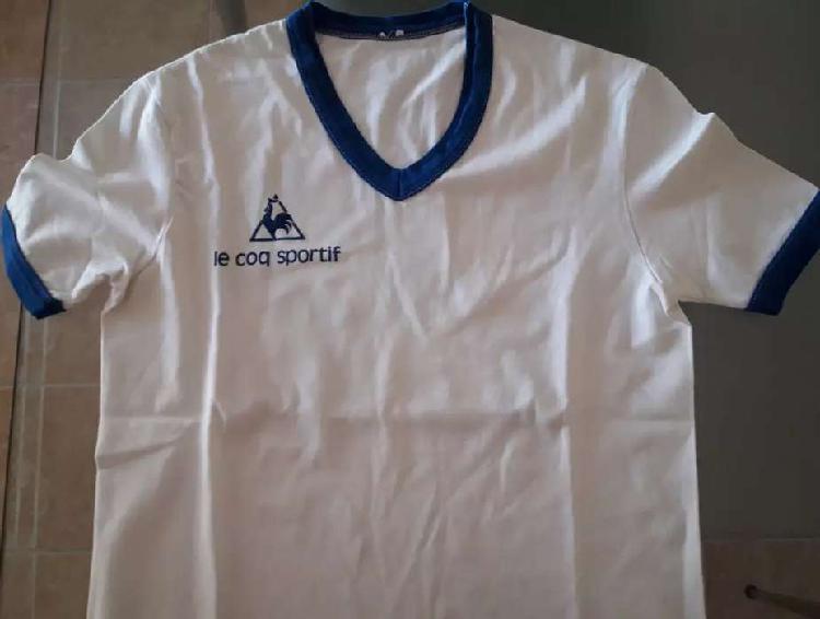 Remera entrenamiento le coq sportif blanca 1986