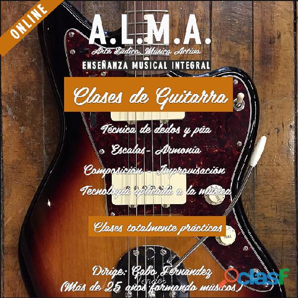 Clases de guitarra en capital federal y online