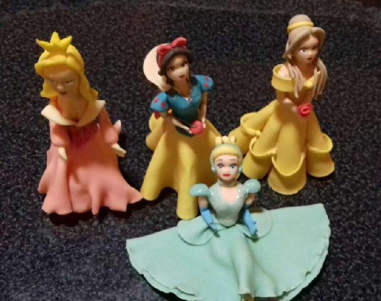 Decoración. tortas. princesas disney porcelana fria