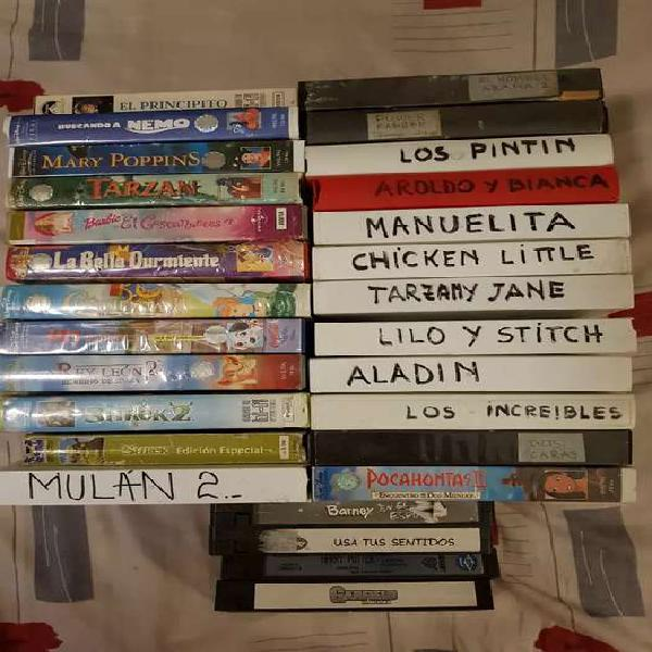 Lote de 28 películas originales . las 2 compacteras van de