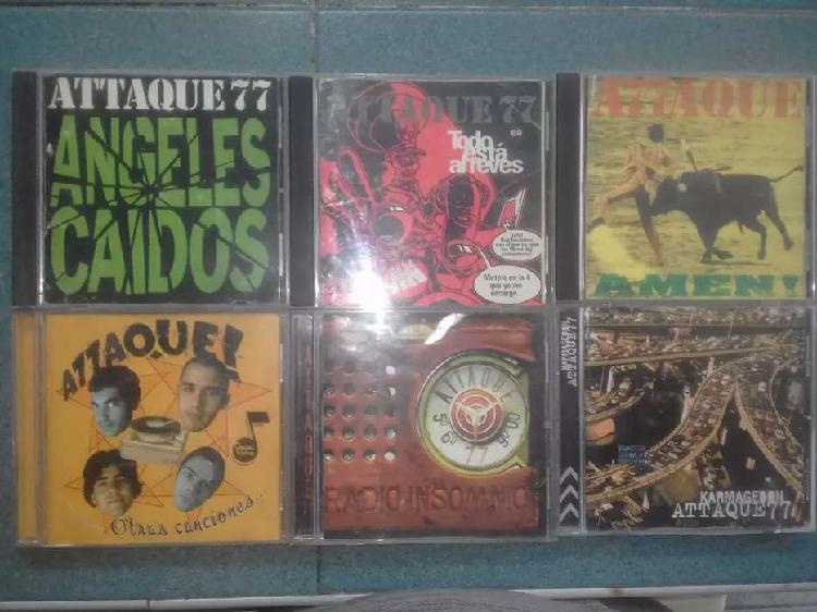 Lote de cds de attaque 77 originales