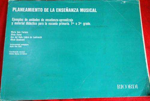 Planeamiento de la enseñanza musical de 1 a 3 grado