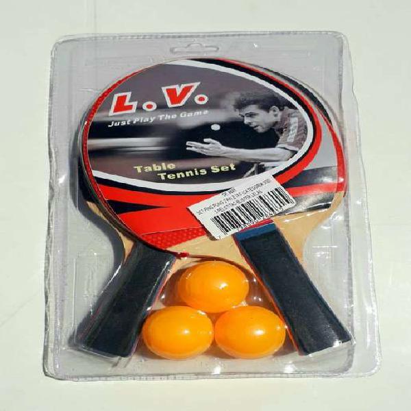 Set ping pong lv level 300 2 paletas 3 pelotas