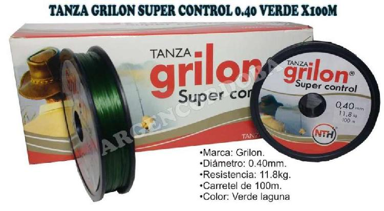 Tanza grilon super control 0.40 verde x100m
