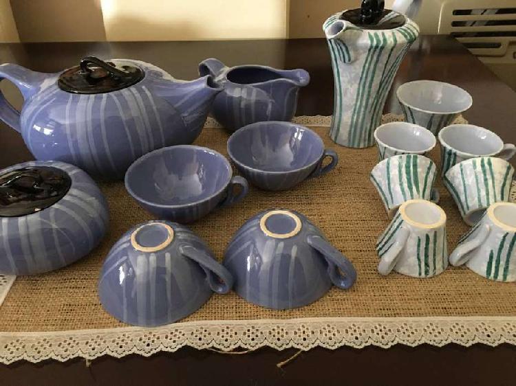 Antiguo juego de te y café de cerámica!!