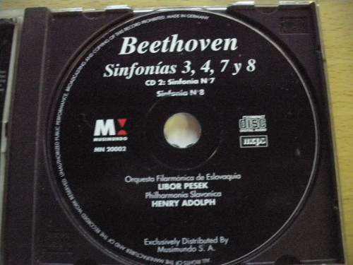 Gp1160 beethoven: sinfonías 7 8 cd nº 2