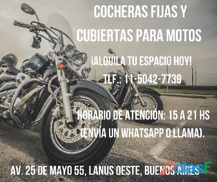COCHERA FIJA Y PRIVADA PARA BICICLETAS Y MOTOS