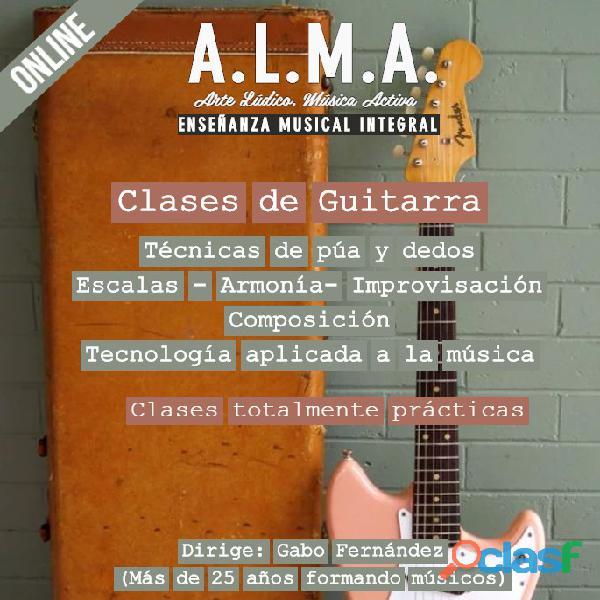 Clases de Guitarra en Caballito, Capital Federal y Online