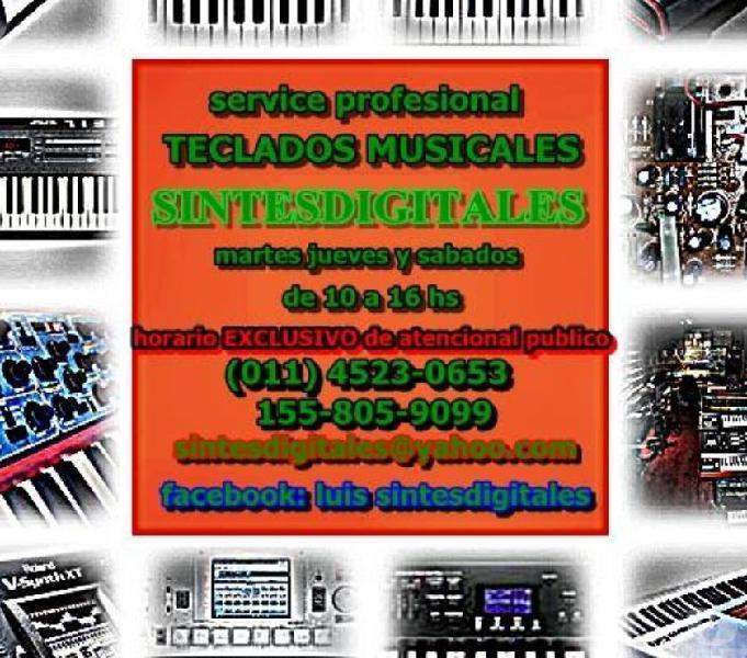Servicio tecnico pianos digitales organos sintetizadores