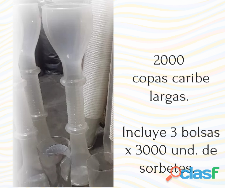 Copas caribe largas POR MAYOR
