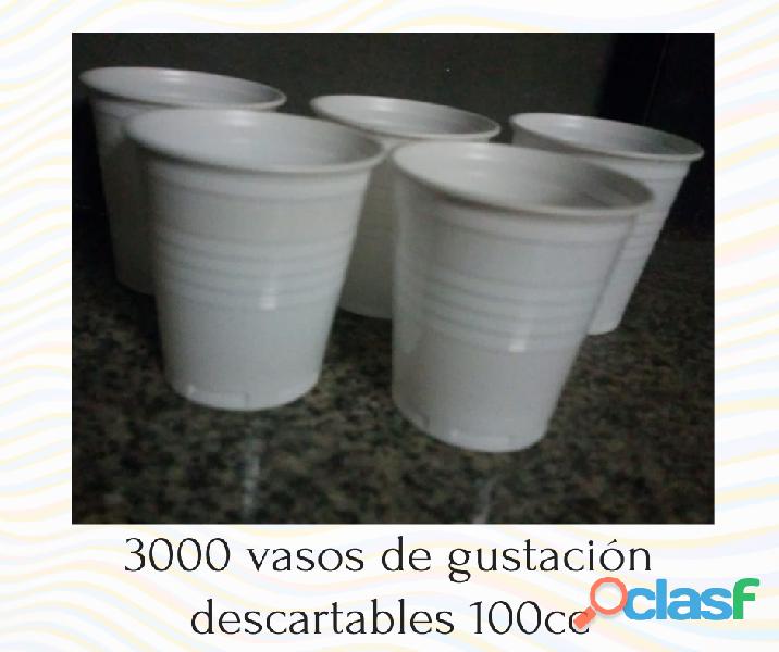 Vasos degustación descartables 100cc POR MAYOR 1
