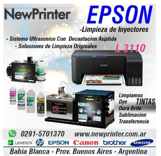 Epson l 3110 inyectores limpieza en Bahía Blanca
