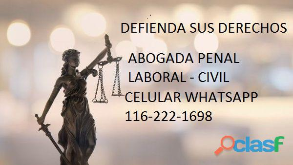 ABOGADA PENAL CIVIL LABORAL