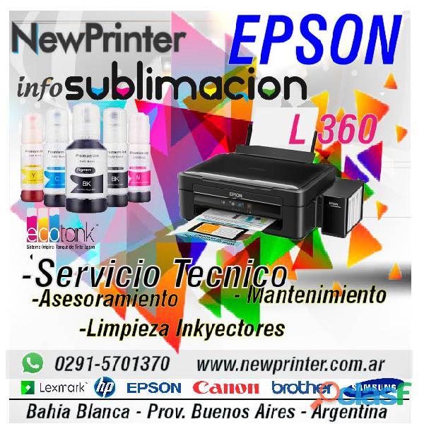 Epson L 360 Sublimacion limpieza inyectores