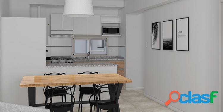 Monoambiente con balcón terraza. amenities. en construcción entrega agosto 2022