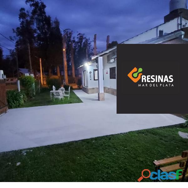 Aplicación de microcemento y pisos industriales de hormigón