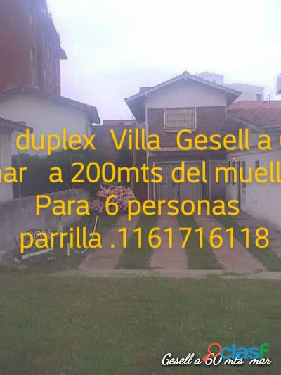 Villa gesell alquiler de casa a media cuadra de la playa y 3 de av principal