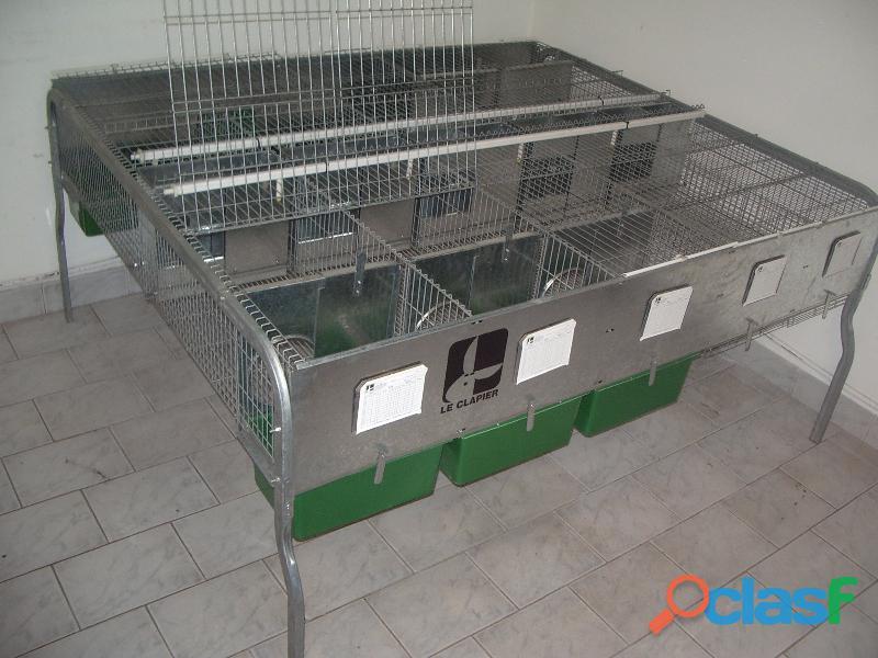 Jaulas para cría de conejos LE CLAPIER 1