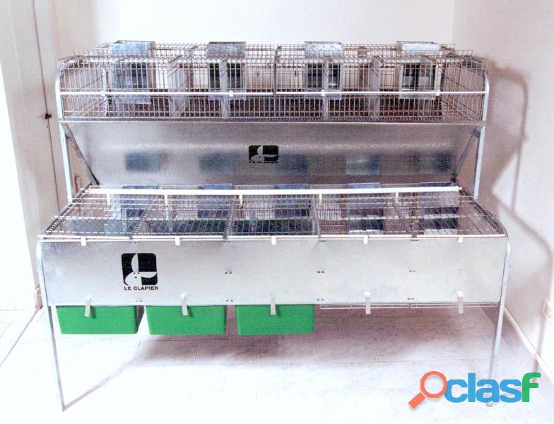 Jaulas para cría de conejos LE CLAPIER 2