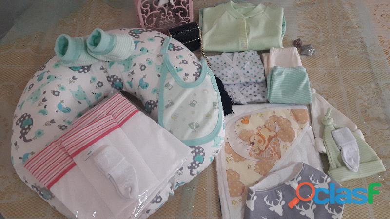 Kit ajuar para bebe  incluye 15 piezas  en promo especial.
