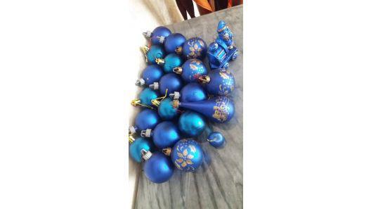 Adorno esfera bolas figuras tren arbol navidad 21 unidades