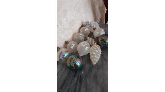 Adorno espera bolas y formas arbol navidad 11 unidades