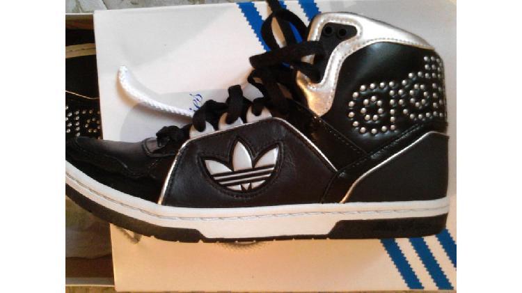 Adidas- botinetas de cuero- originales- n° 38,5