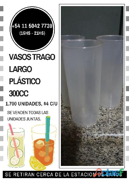Vasos de plástico 300cc