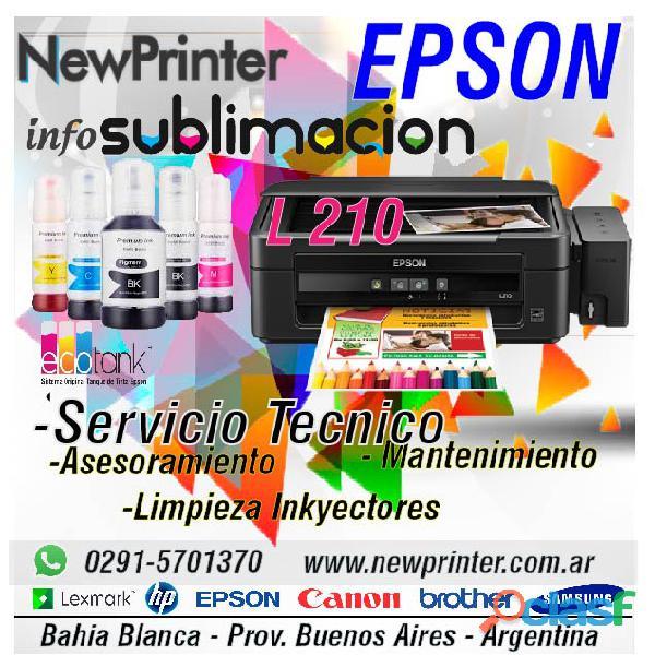 Impresora epson l 210 sublimación mantenimiento limpieza de inyectores servicio técnico