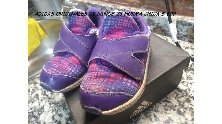 Zapatillas adidas originales numero 23 horma chica $ 600