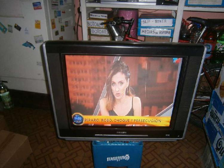 tv 29 philips plano impecable con control