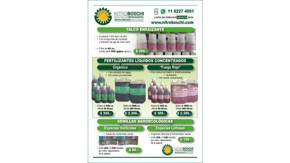 Fertilizantes, plaguicidas, sustratos y mas insumos para el