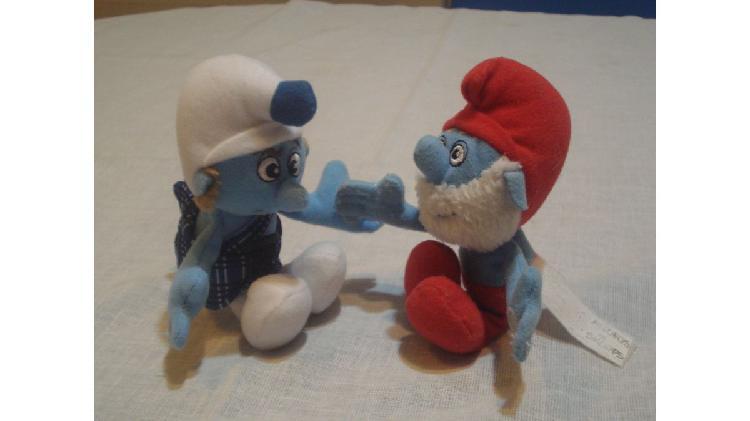 Muñecos pitufos x2