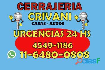 CERRAJERIA EN BECCAR *((4549 1186))* CERRAJERO 24 HS