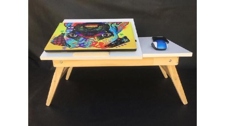 Mesa plegable de notebook para cama o sillón.