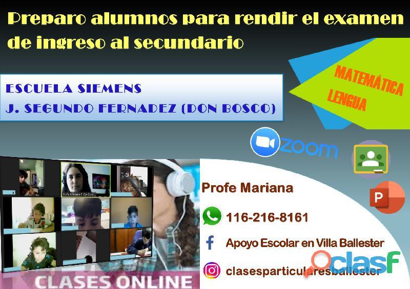 Escuela siemens   don bosco. preparo alumnos para rendir el examen de ingreso