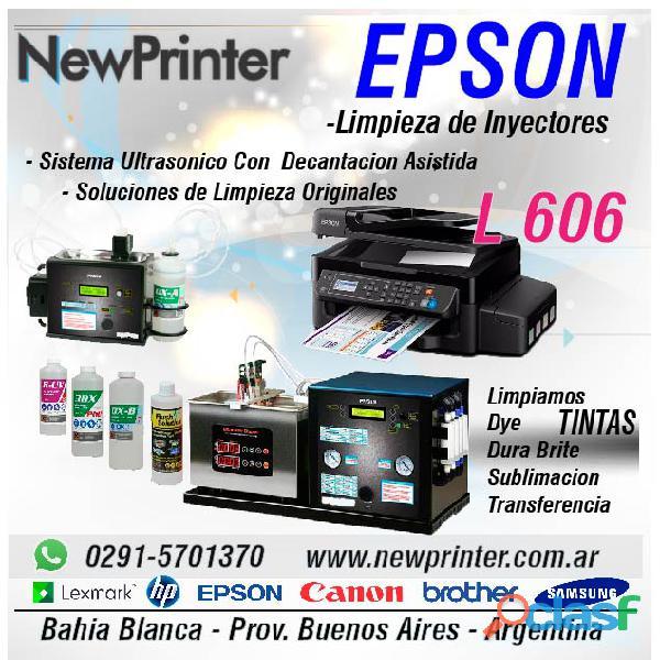 Impresora epson l606 limpieza de inyectores