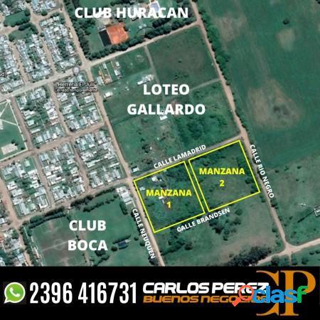 """Lotes en urbanizacion """"tierras del toro"""" carlos casares"""