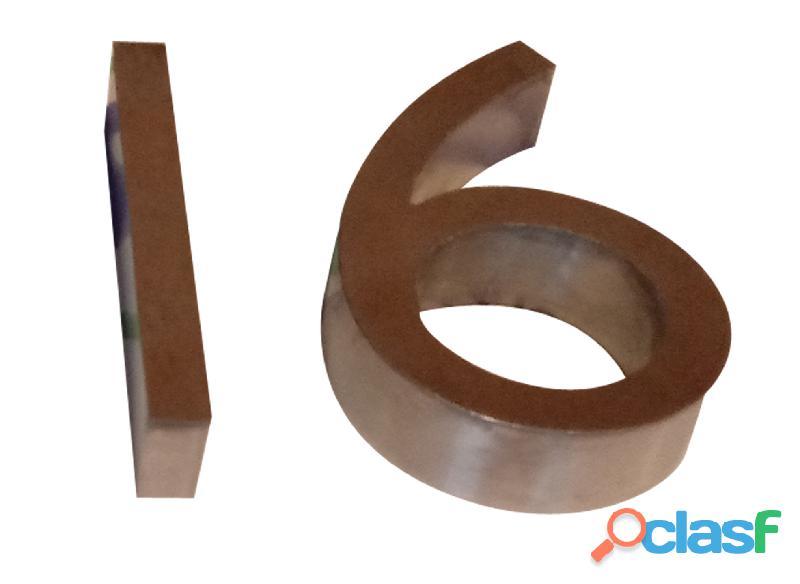 Números de acero inoxidable para casas en Callao Valentín Alsina 3