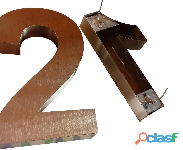Números de acero inoxidable para casas en Callao Valentín Alsina 5
