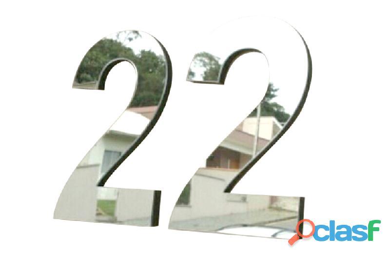 Números de acero inoxidable para casas en Callao Valentín Alsina 6