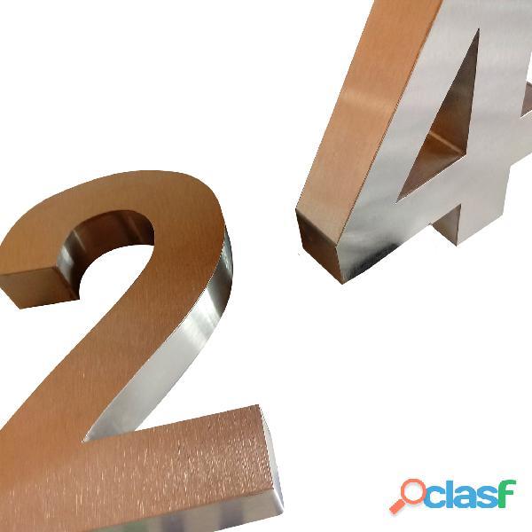 Números de acero inoxidable para casas en Callao Valentín Alsina 8