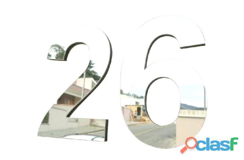 Números de acero inoxidable para casas en Callao Valentín Alsina 10