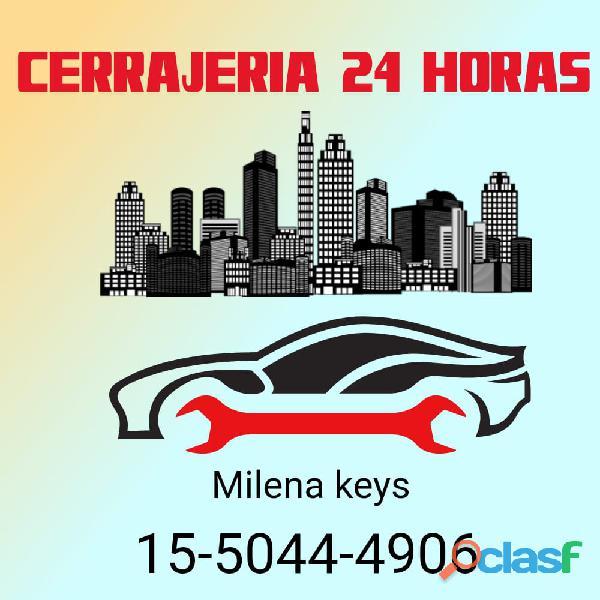 Cerrajería milena keys en chilavert de auto casa 11 5044 4906 las 24 horas a Domicilio