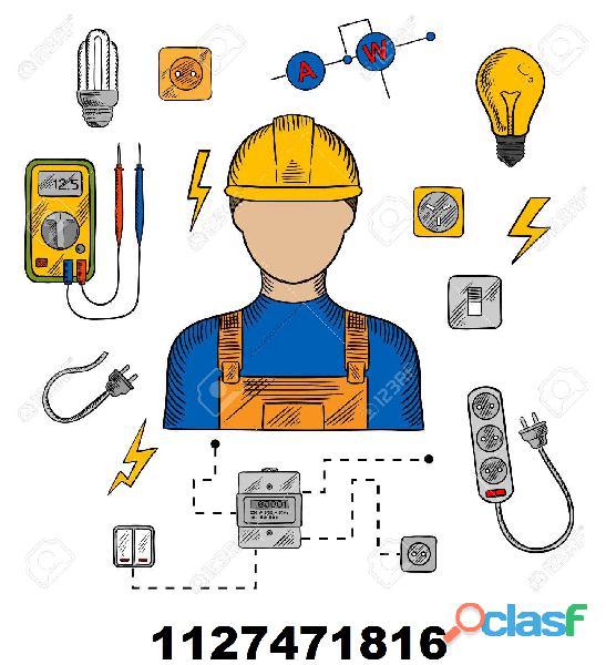 Tecnico Electricista, Instalaciones, Reparaciones Caba y Gba