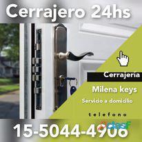 Cerrajería milena keys en don torcuato de auto casa 11 5044 4906 las 24 horas a domicilio.