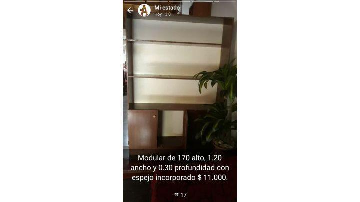 Modular madera con espejo cristal